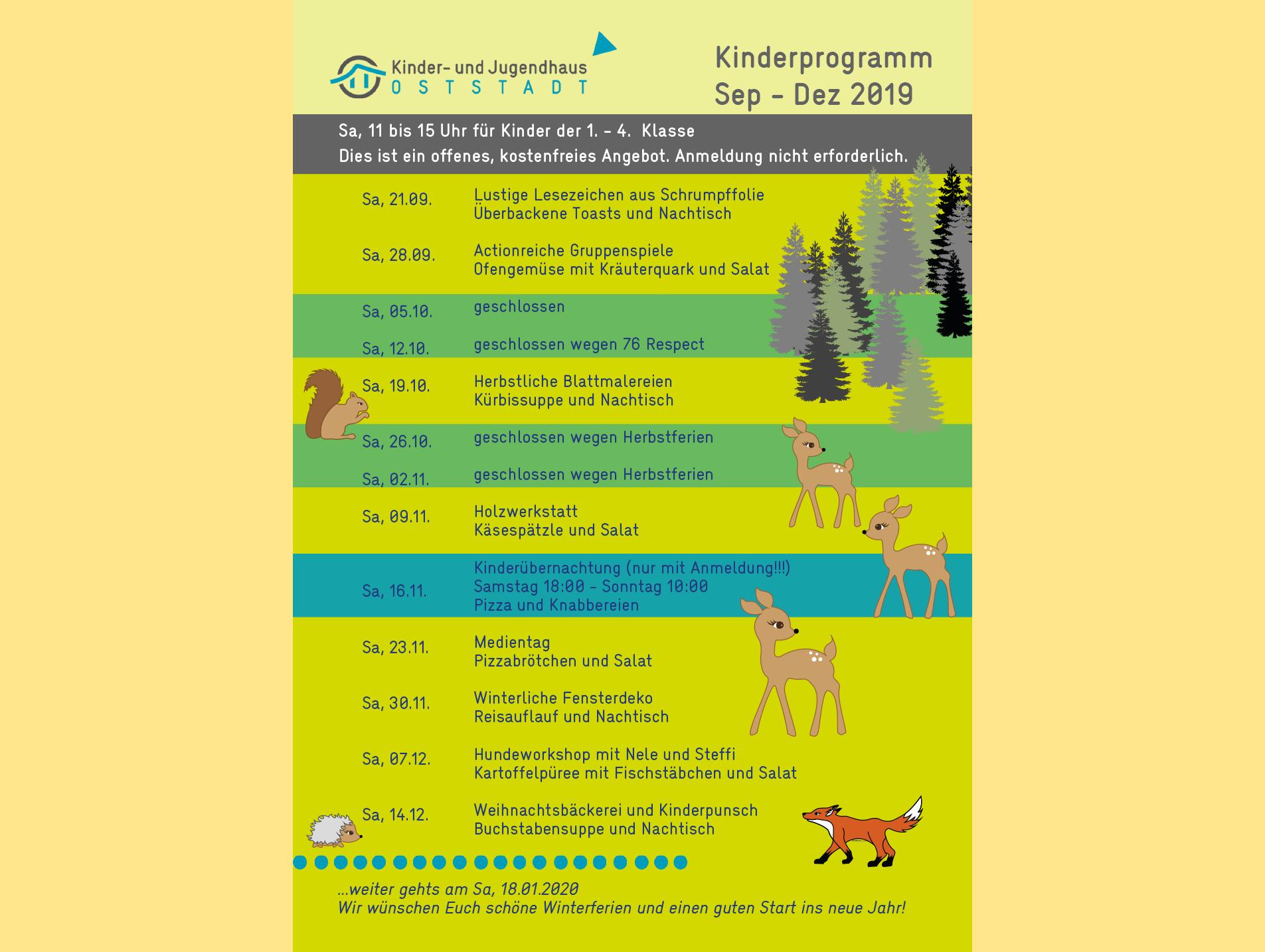 News Kinderprogramm Sep - Dez 2019