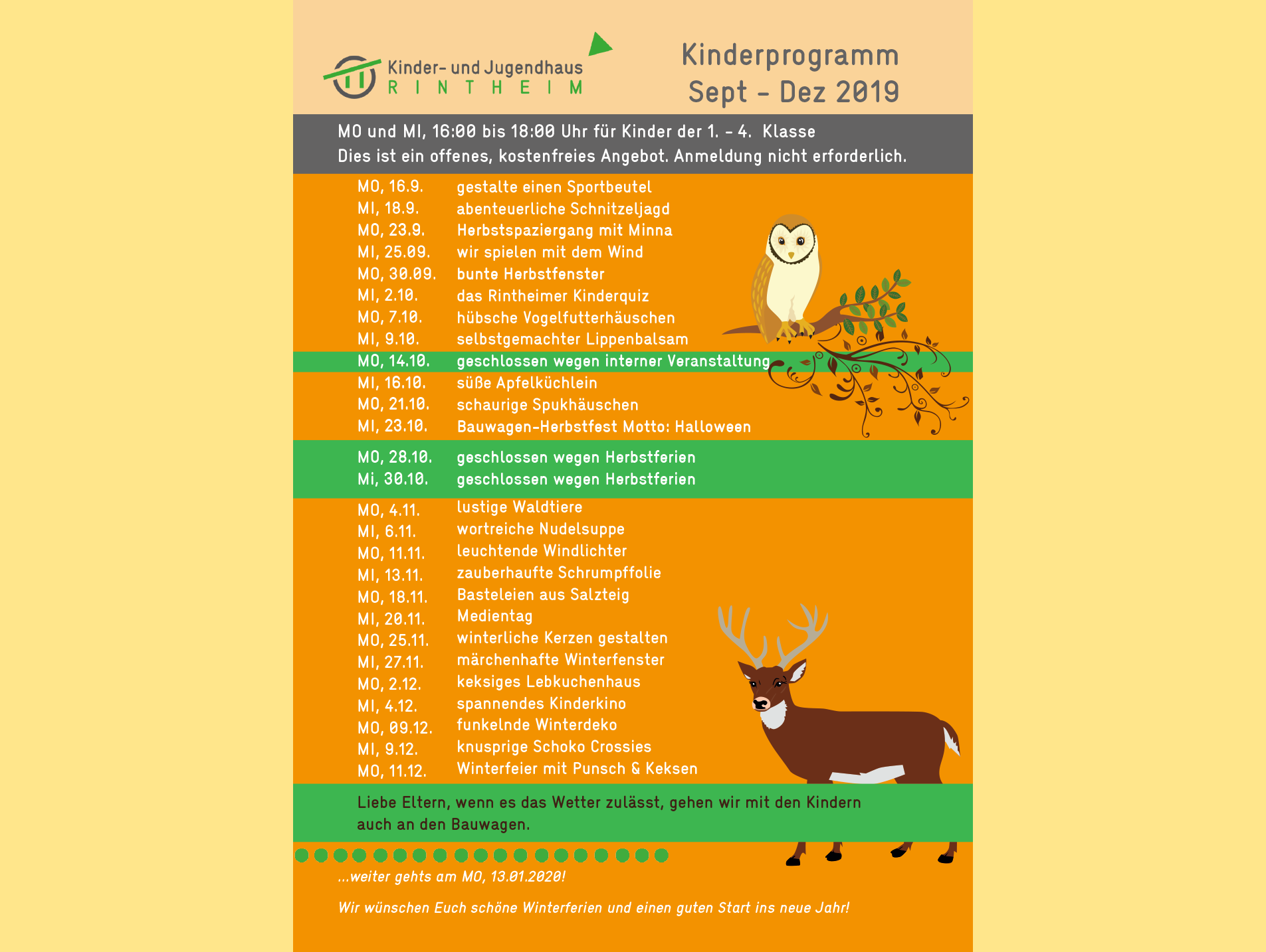 News_Kinderprogramm_Sep - Dez 2019