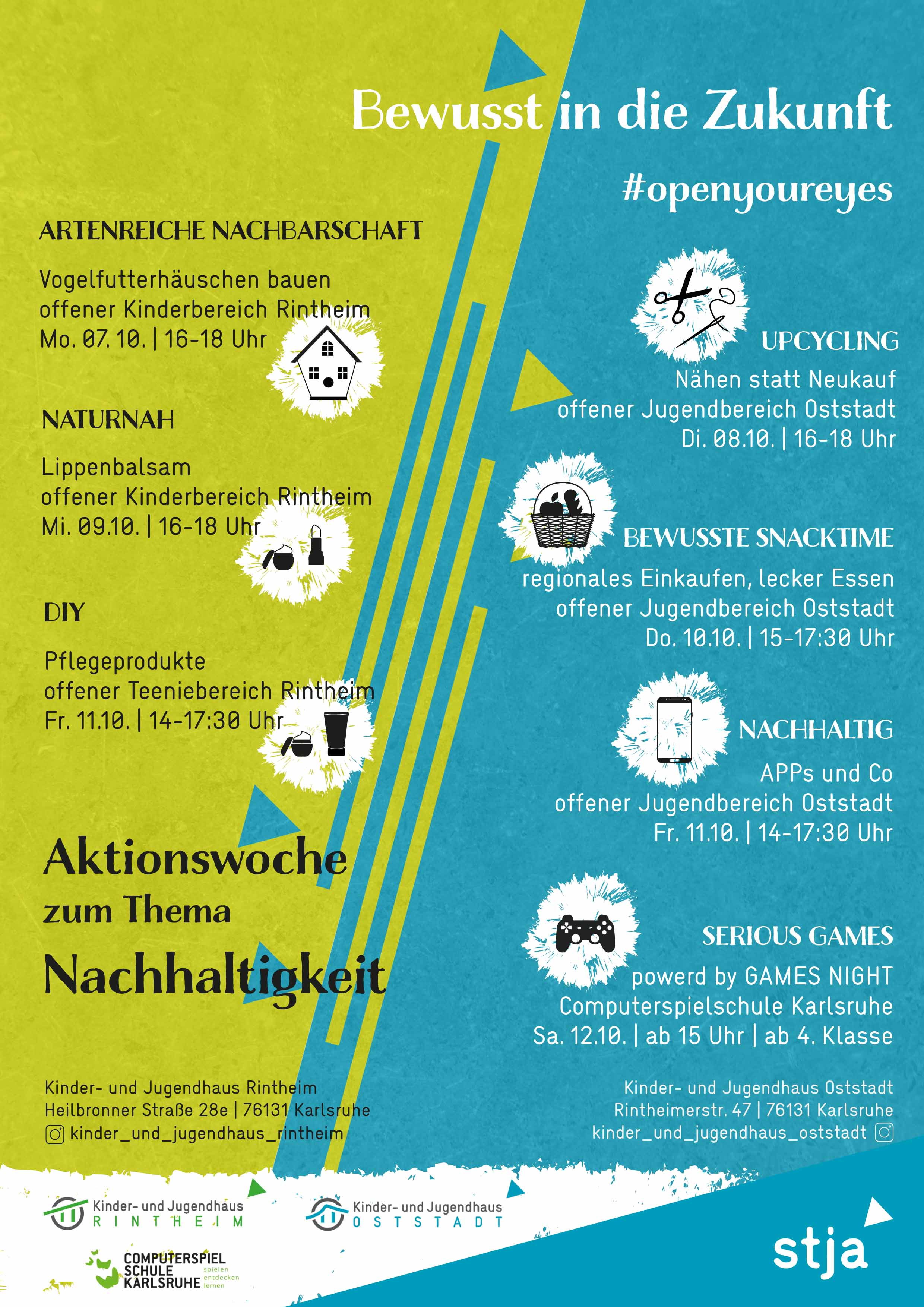 Poster Aktionswoche Nachhaltigkeit mit Adresse