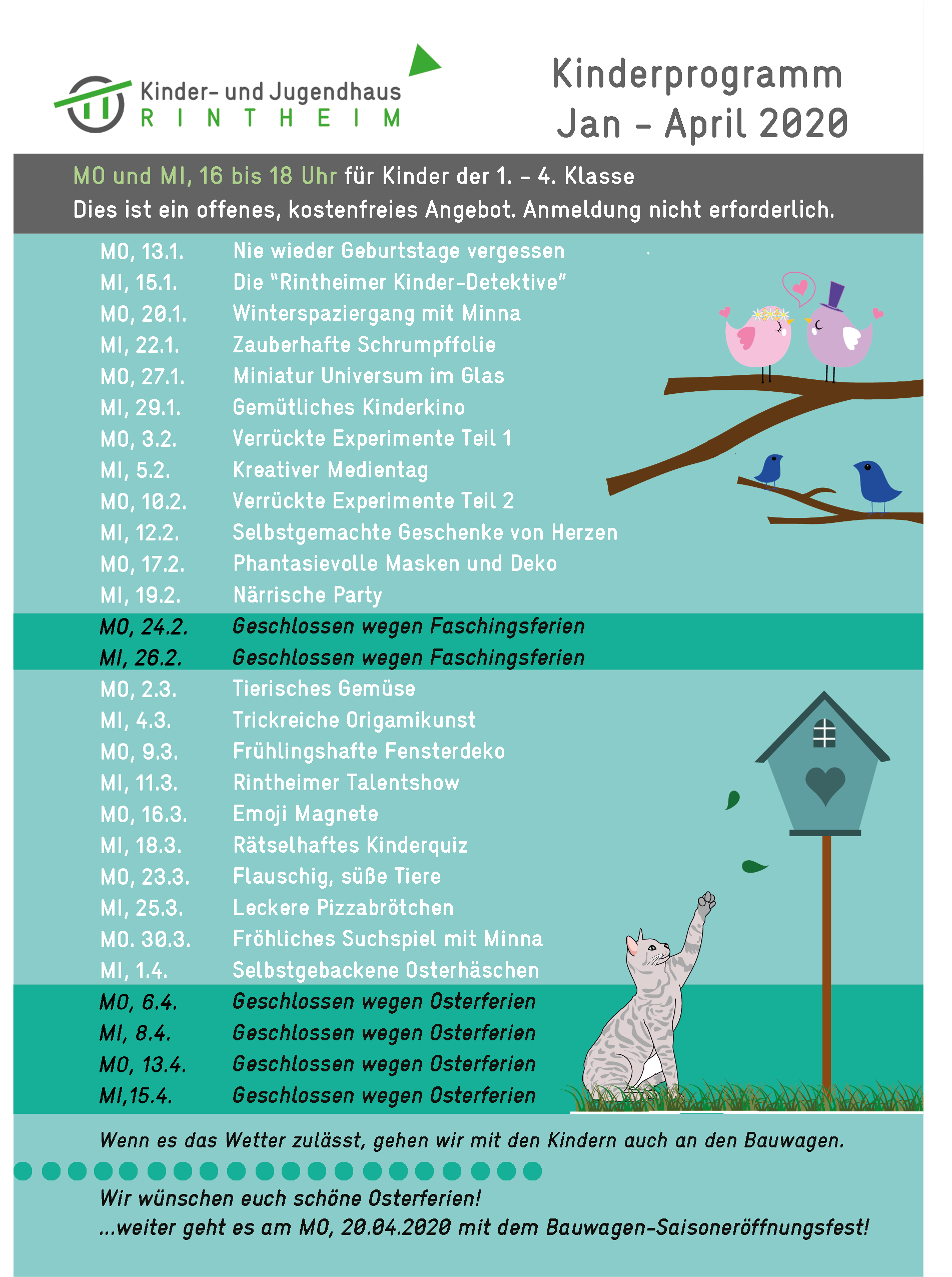 hochKinderprogramm Rintheim_Jan-April 2020_innen -